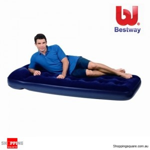 Bestway Easy Inflate Flocked Air Bed/Single With built-in Foot pump and Pillow