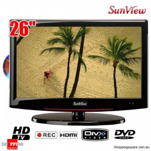 "Sunview 26"" (66cm) HD LCD TV Integrated HD Tuner with Built-in DVD Player,PVR,USB Playback"