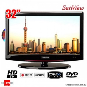 "Sunview 32"" (81cm) HD LCD TV Integrated HD Tuner with Built-in DVD Player, PVR, USB, HDMI"