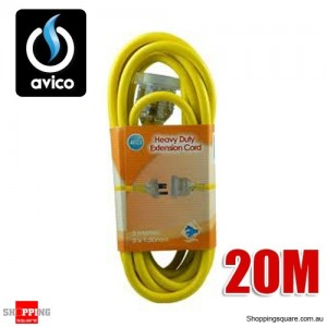 Avico 20M Heavy Duty 240V Extension Cord 10AMP
