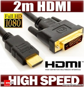 DVI TO HDMI CABLE 2.0m Full HD