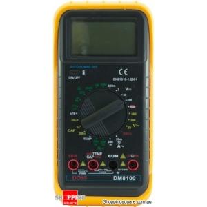 Doss DM8100 Full-featured Digital Multimeter with Temperature Probe