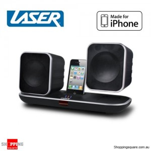 Laser iPhone iPod Dock 2.4Ghz Wireless Speaker Docking Station for Indoor/Outdoor