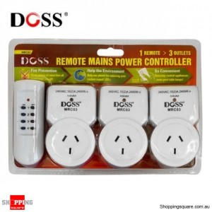 Main Outlet Power MRC 03 Saver kit with Remote Controller ,3x Outlets, Wireless Control Plug