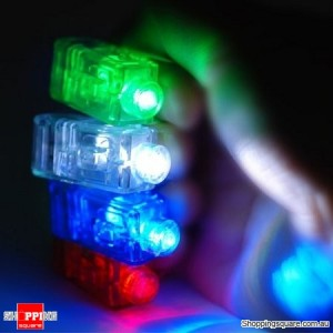 4x Fun Gadget Laser Finger Beams LED Light Party