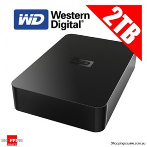 Western Digital 2TB Elements Desktop 3.5inch External Hard Drive