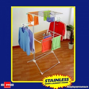 Stainless Steel Two LayersClothes Drying Rack Both Indoor and Outdoor Use