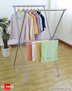 Stainless Steel X-Type Clothes Drying Rack Both Indoor and Outdoor Use