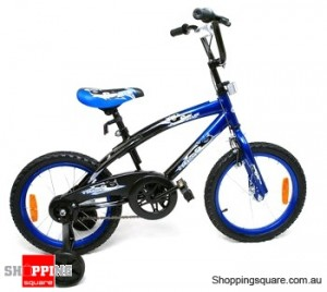 "BMX Bike 16"" (40cm)  Air Tire, Steel Frame Bicycle Blue"