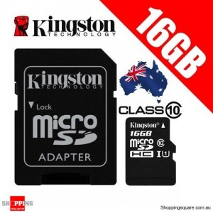 Kingston 16GB microSDHC Class 10 UHS-I Memory Card with Adapter 45MB/s (SDC10G2)