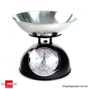 Camry Retro Stainless Steel Style Kitchen Scales 5kg - 1g  Black