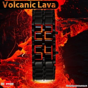 VOLCANIC Lava LED Digital Wrist Faceless Watch