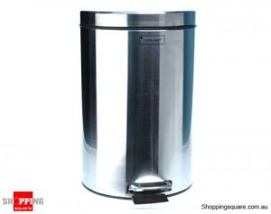 Stainless Steel Kitchen Homeware Waste Dust Bin with Pedal 5 Liter