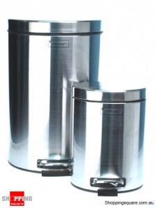 12L & 3L Stainless Steel Waste Dust Bins with Pedal