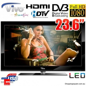 """Vivo 23.6"""" (60cm) Full HD LED TV with Built-in HD Tuner 1920x1080P with HDMI and USB"""