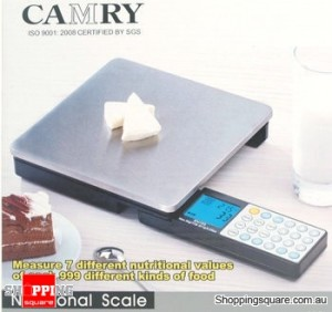 Camry Digital LCD S/Stell Kitchen Scale foldable 5kg/1g