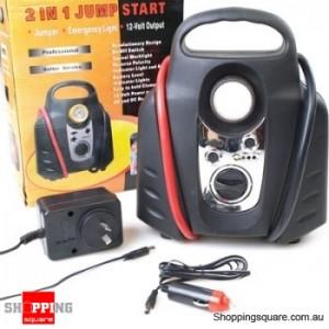 2 in 1 Electronic 12V Car Jump Start Kit, Emergency Power Station