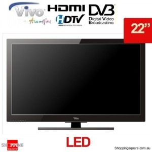Vivo 21.6 Inch (56cm) Full HD LED TV with Built-in HD Tuner, 1920x1080P, 2x HDMI, USB