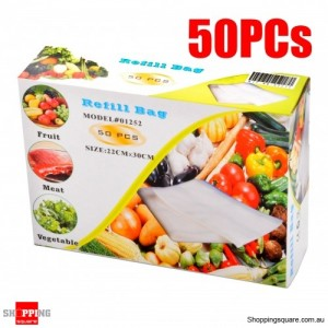 MEDIUM Vacuum Sealer Refill Bags 22x30cm 50PCS/Set for PAVO Food Saver