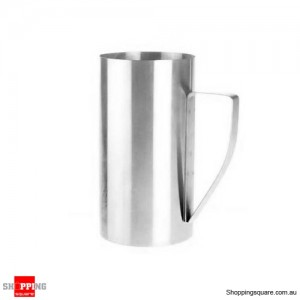 2x 900ml Stainless Steel Milk & Water Jug
