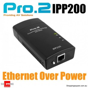 Internet Power Point Powerline Adapter - Ethernet Over Power Line, 200Mbps