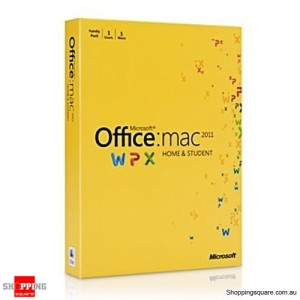 Microsoft Office Home & Student 2011 For MAC- 3 Users