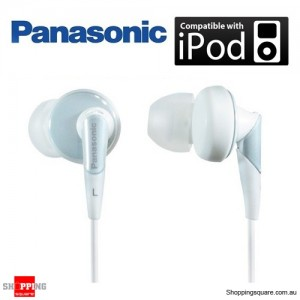 Panasonic RP-HJE450 iPod Earphone - In Ear Earbud ErgoFit Design Headphone, Accoustic Precision Control System (White)