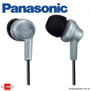 Panasonic RP-HJE270 In-Ear Earbud Ergo-Fit Design Headphone (Silver)