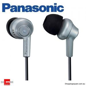 Panasonic RP-HJE270 In-Ear Earbud Ergo-Fit Design Headphone (Silver)