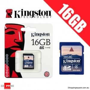 Kingston 16GB SD SDHC Memory Card Class 4 High Speed