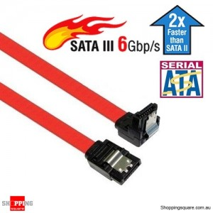 SATA 3 III 3.0 Data Cable 6Gbps For HDD SSD with Angle and Lead Clip