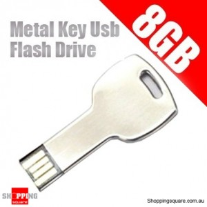Waterpoof 8GB Metal Key Usb Flash Drive - 8G Flash Memory Pen
