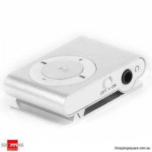Silver Color New Clip MP3 Player for 2GB 4GB 8GB 16GB 32GB Micro SD/TF Card