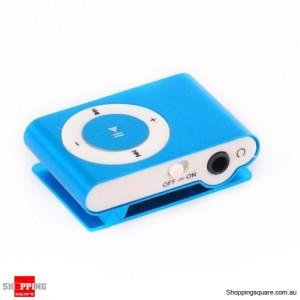 Blue Color New Clip MP3 Player for 2GB 4GB 8GB 16GB 32GB Micro SD/TF Card