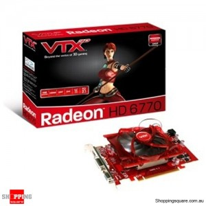 VTX 3D Radeon HD 6770 1GB Video card