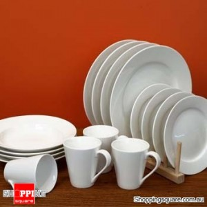 16 Pieces Round Dinner Set, White