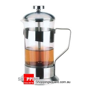 350ml Stainless Steel Tempered Glass Coffee Maker Plunger
