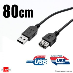 80cm Male to Female USB 2.0/3.0 Extension Cable