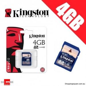 Kingston 4GB SD SDHC Memory Card Class 4 High Speed