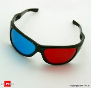 Red & Blue Cyan Anaglyph 3D Glasses for Movie Game DVD