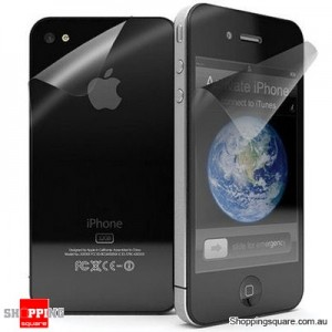 iPhone 4 Anti-Glare Front & Back Screen Protector