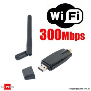 Wireless N WiFi USB Adapter 802.11 bgn 300Mbps 5dBi