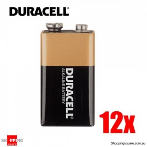 Duracell Coppertop 9V Alkaline Battery 12pcs Pack