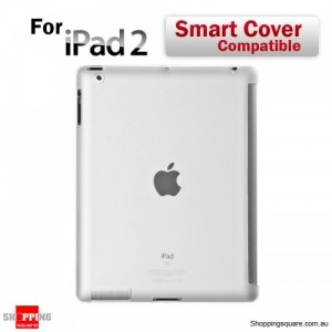 Clear Ipad2 Fit Smart Cover Soft TPU Back Case Cover