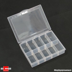10 Slot Plastic Nail Tips Storage Box Case