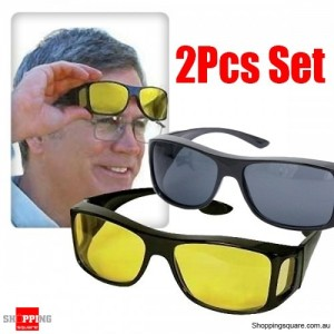 HD Vision WrapArounds Sunglasses 2 pcs 1 set - UV Protection