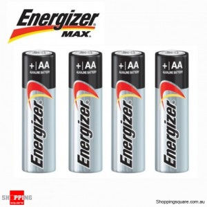 4x Energizer Max Alkaline AA Battery