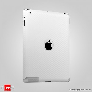 Back Plate Protector for iPad 4th, 3rd Gen and iPad2 Carbon Fibre Vinyl Skin Di-Noc Sticker