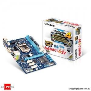 Gigabyte GA-H61MA-D2V Intel H61 mATX Motherboard, USB 3.0