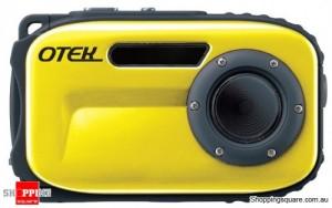 Otek Underwater Digital Video Camera, 5MP WaterProof up to 10 Meters (Yellow)